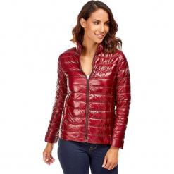 Kurtka puchowa w kolorze bordowym. Czerwone kurtki damskie pikowane marki Snowie Collection, s, z puchu. W wyprzedaży za 159,95 zł.