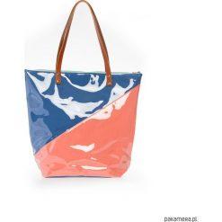 Torba Shopper Duo. Czerwone shopper bag damskie Pakamera, z tkaniny, na ramię. Za 200,00 zł.