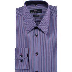 Koszula CORNELIO slim 13-01-15. Szare koszule męskie jeansowe Giacomo Conti, m, w kolorowe wzory, z klasycznym kołnierzykiem. Za 229,00 zł.