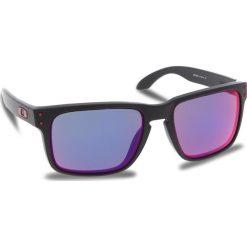Okulary przeciwsłoneczne OAKLEY - Holbrook OO9102-36 Matte Black/Red Iridium. Czarne okulary przeciwsłoneczne męskie aviatory Oakley, z tworzywa sztucznego. W wyprzedaży za 449,00 zł.