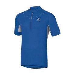 Odlo Koszulka męska Stand-up collar s/s 1/2 zip ISOLA niebieska r. M (410912). Szare koszulki sportowe męskie marki Odlo. Za 199,95 zł.