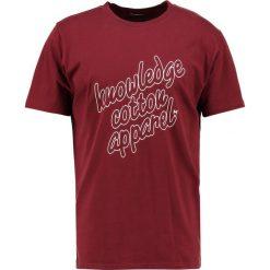 T-shirty męskie z nadrukiem: Knowledge Cotton Apparel Tshirt z nadrukiem tawny red