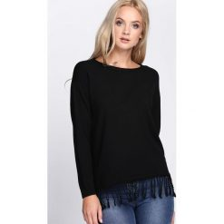 Swetry klasyczne damskie: Czarny Sweter Lock Out