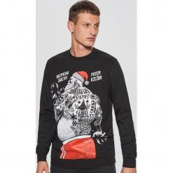 Bluza z nadrukiem kolekcja christmas - Czarny. Czarne bluzy męskie rozpinane marki Cropp, l, z nadrukiem. Za 79,99 zł.