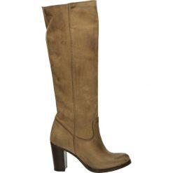 Kozaki - 797 NAB TAUPE. Brązowe buty zimowe damskie Venezia, ze skóry. Za 299,00 zł.