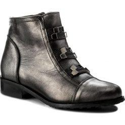 Botki EKSBUT - 67-4716-E04-1G Czarny/Srebro. Czarne buty zimowe damskie Eksbut, z materiału, na obcasie. W wyprzedaży za 259,00 zł.