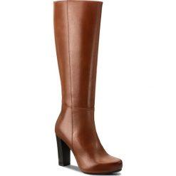 Kozaki GINO ROSSI - Serena DKH138-T18-0174-3300-F 88. Czarne buty zimowe damskie marki Gino Rossi, z materiału, na obcasie. W wyprzedaży za 379,00 zł.