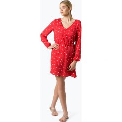 Vila - Sukienka damska – Viesto Dotinas, czerwony. Czerwone sukienki z falbanami marki Vila, w kropki. Za 179,95 zł.