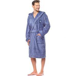 Męski szlafrok Bruce niebieski melanż. Niebieskie szlafroki męskie marki Astratex, z bawełny. Za 150,99 zł.