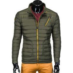KURTKA MĘSKA PRZEJŚCIOWA PIKOWANA C290 - OLIWKOWA. Zielone kurtki męskie pikowane marki Ombre Clothing, m, z nylonu. Za 79,00 zł.