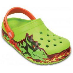 Crocs Buty Crocslights Fire Dragon Clog K Volt Green 23-24 (c7). Zielone buciki niemowlęce marki Crocs, z paskami. W wyprzedaży za 113,00 zł.