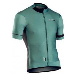 Northwave Koszulka Męska Airout Jrs S/S Green/Black M. Czarne odzież rowerowa męska marki B'TWIN, m. Za 415,00 zł.