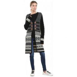 Desigual Sweter Damski Laura L Czarny. Czarne kardigany damskie Desigual, l. Za 599,00 zł.