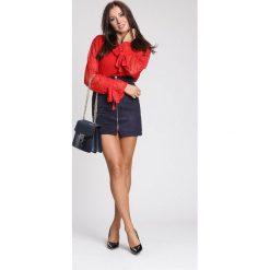 Czerwony Sweter Decorative Elements. Czerwone swetry klasyczne damskie other, na jesień, m. Za 89,99 zł.
