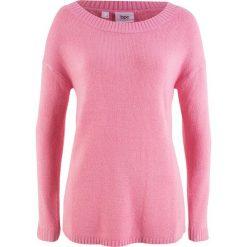 Sweter z dekoltem w łódkę bonprix malinowy. Czerwone swetry klasyczne damskie marki bonprix, z dekoltem w łódkę. Za 32,99 zł.