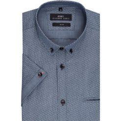 Koszula SIMONE KKGS000007. Brązowe koszule męskie na spinki marki QUECHUA, m, z elastanu, z krótkim rękawem. Za 199,00 zł.