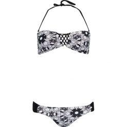 Stroje kąpielowe damskie: Bikini w kolorze czarno-białym
