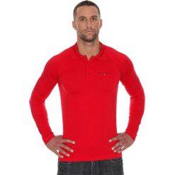 Brubeck Koszulka męska polo Prestige z długim rękawem czerwona r. XL (LS10620). Czerwone koszulki polo marki Brubeck, m, z długim rękawem. Za 215,89 zł.
