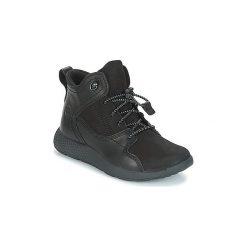 Buty Dziecko Timberland  FlyRoam Leather Hiker. Czarne trampki chłopięce marki Timberland. Za 329,00 zł.