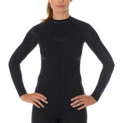 Bluzki sportowe damskie: Brubeck Bluza damska THERMO z długim rękawem czarna r. L (LS13100)