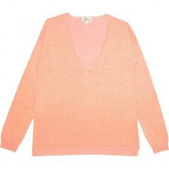 Sweter kaszmirowy w kolorze brzoskwiniowym. Brązowe swetry klasyczne damskie marki Ateliers de la Maille, z kaszmiru. W wyprzedaży za 500,95 zł.