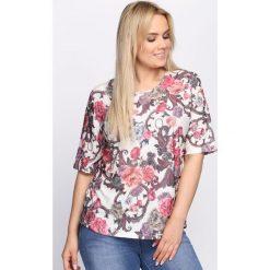 T-shirty damskie: Różowo-Beżowy T-shirt Cornfield