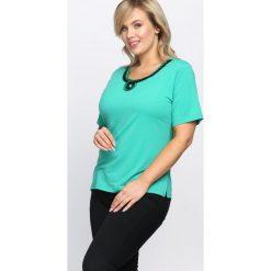 Bluzki damskie: Zielony T-shirt Swash