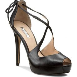 Rzymianki damskie: Sandały GUESS – Huete FLHEE2 LEA07  BLACK