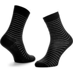 Skarpety Wysokie Unisex HAPPY SOCKS - SB01-999 Czarny. Czerwone skarpetki męskie marki Happy Socks, z bawełny. Za 34,90 zł.