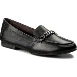 Półbuty TAMARIS - 1-24214-20 Black Leather 003. Szare półbuty damskie skórzane marki Tamaris. W wyprzedaży za 199,00 zł.