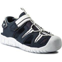 Sandały CLARKS - Rapid Time 261313976 Navy. Białe sandały chłopięce marki Clarks, z materiału. W wyprzedaży za 139,00 zł.