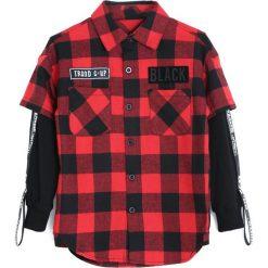 Czarno-Czerwona Koszula Each Year. Czarne koszule chłopięce Born2be. Za 44,99 zł.