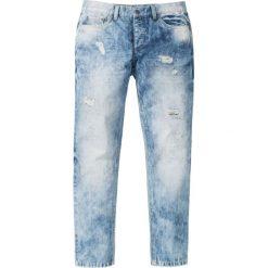 """Dżinsy Regular Fit Tapered bonprix niebieski """"moon used"""". Czarne jeansy męskie regular marki bonprix. Za 59,99 zł."""