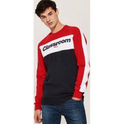 Bluza z napisem - Czerwony. Czerwone bluzy męskie rozpinane marki House, l, z napisami. Za 99,99 zł.