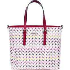 Torebki klasyczne damskie: Skórzana torebka w kolorze białym – (S)35 x (W)48 x (G)10 cm