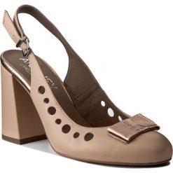 Rzymianki damskie: Sandały ANN MEX – 8013 02S+02GT Beż/Róż