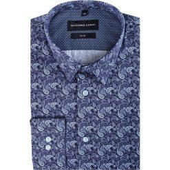 Koszula SIMONE KDWS000179. Szare koszule męskie na spinki Giacomo Conti, m, paisley, z bawełny, z klasycznym kołnierzykiem. Za 199,00 zł.