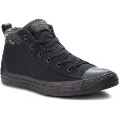 Trampki CONVERSE - Ctas Street Mid 161464C Black/Almost Black/Black. Czarne tenisówki męskie Converse, z gumy. W wyprzedaży za 219,00 zł.