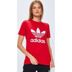 Adidas Originals - Top. Czerwone topy damskie adidas Originals. Za 129,90 zł.