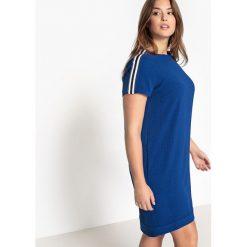Sukienki hiszpanki: Prosta sukienka z wstawkami na ramionach