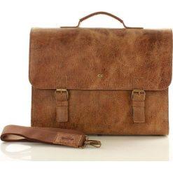 Torba skórzana DAGG WANTED Brązowa. Brązowe torby na laptopa marki daag, w paski, ze skóry. Za 699,00 zł.