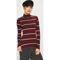 Answear - Sweter. Brązowe golfy damskie ANSWEAR, l, z bawełny, z krótkim rękawem. Za 99,90 zł.