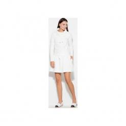 Sukienka K260 Ecru. Brązowe długie sukienki marki KATRUS, na imprezę, m, z golfem, z długim rękawem, rozkloszowane. Za 129,00 zł.