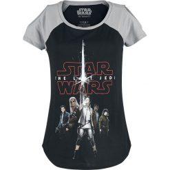 Star Wars Episode 8 - Die letzten Jedi - Tour Koszulka damska czarny/szary. Szare bluzki damskie marki Sinsay, l, z dekoltem na plecach. Za 62,90 zł.