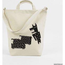 Naturalna torba na zakupy Wilk i owce. Szare torby na ramię męskie Pakamera. Za 159,00 zł.