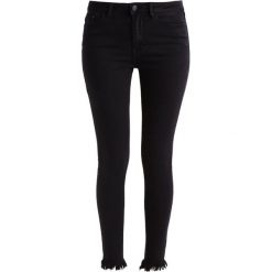 Vila VIJUNAS CUTOFF  Jeans Skinny Fit black. Czarne boyfriendy damskie Vila. W wyprzedaży za 135,85 zł.