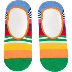 Skarpety Stopki Damskie HAPPY SOCKS - MST06-3000 Kolorowy. Pomarańczowe skarpetki damskie Happy Socks, w kolorowe wzory, z bawełny. Za 27,90 zł.
