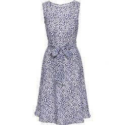 Sukienki: Sukienka bonprix biało-ciemnoniebieski w kropki