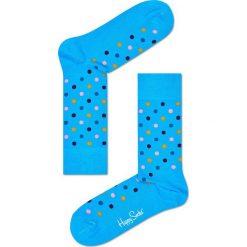 Happy Socks - Skarpety Dot. Niebieskie skarpetki męskie Happy Socks, z bawełny. W wyprzedaży za 27,90 zł.