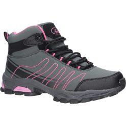 Szare buty trekkingowe sznurowane softshell Casu B1530-4. Szare buty trekkingowe damskie marki Casu. Za 99,99 zł.